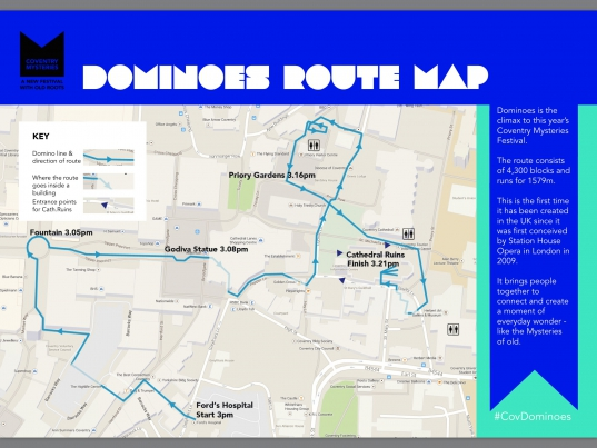 Map of Dominoes in Coventry 